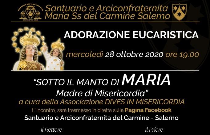 Sotto il manto di Maria, Madre di Misericordia. Mercoledì 28 Ottobre 2020