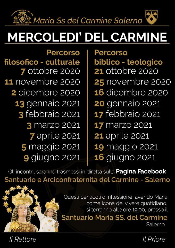 Mercoledì del Carmine - date incontri eventi